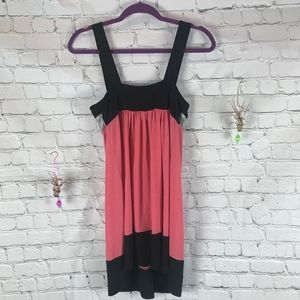 Candie's Dresses - Candie's Pink Striped Shimmer Tank Dress Size M